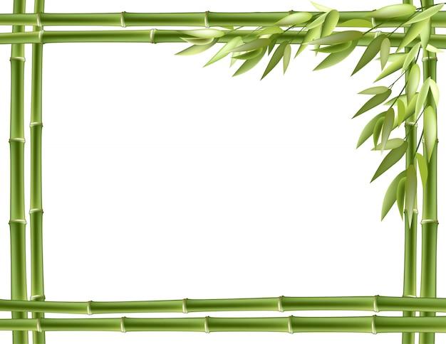 Cadre En Bambou. Vecteur Vecteur Premium