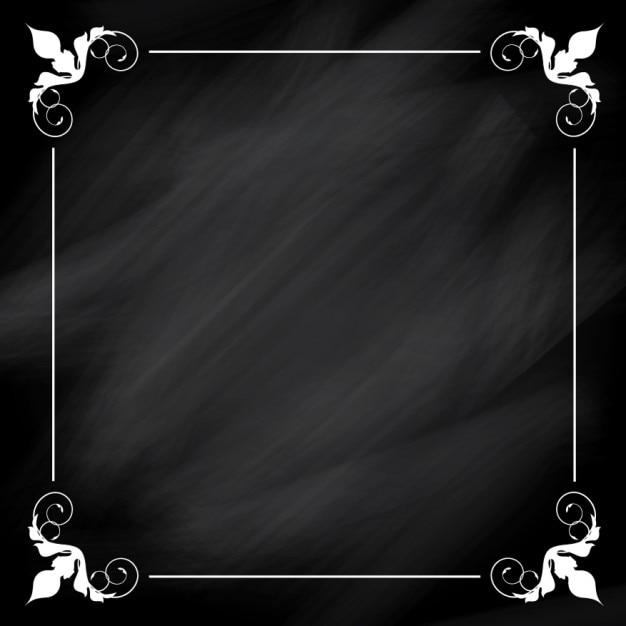 cadre blanc sur fond ornemental tableau noir t l charger des vecteurs gratuitement. Black Bedroom Furniture Sets. Home Design Ideas