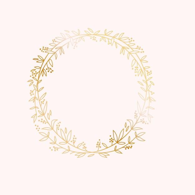 Cadre De Bordure De Couronne. Modèle De Carte D'invitation D'événement Mariage Mariage. Vecteur Premium