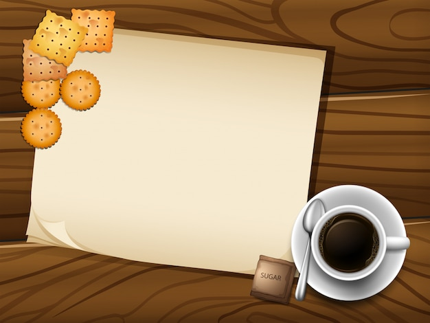 Cadre De Café Vecteur gratuit