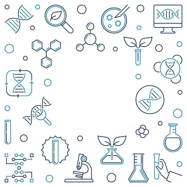 Cadre Carré De Concept Génétique Concept. Illustration Vecteur Premium