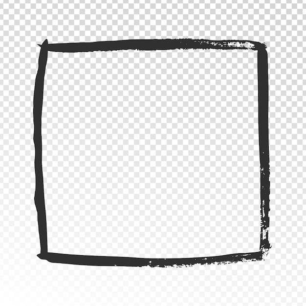 Cadre carré grunge Vecteur Premium