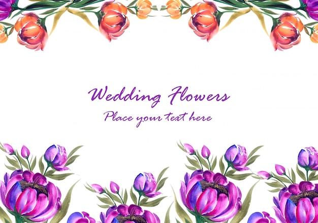 Cadre En Composition Florale Décorative Vecteur gratuit