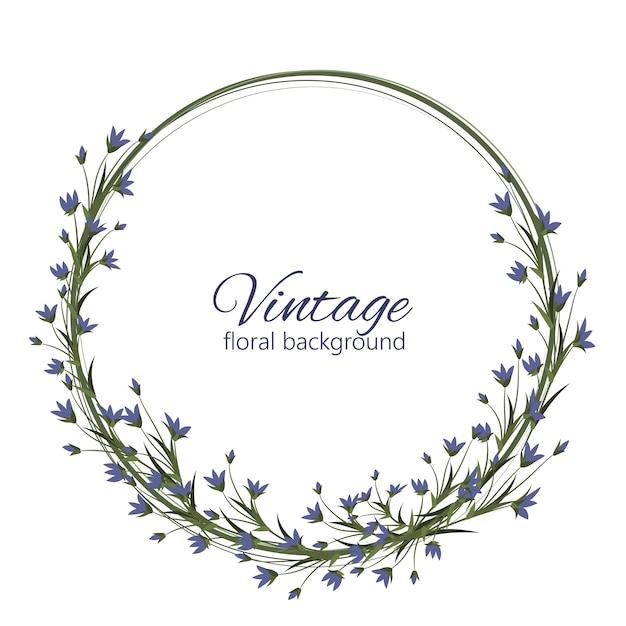 Cadre de conception de vecteur floral de mariage délicat Vecteur gratuit