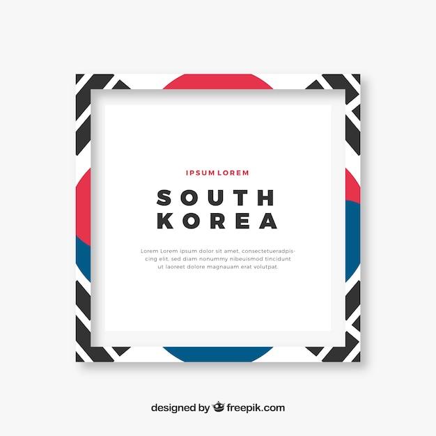 Cadre Coréen Du Sud Vecteur gratuit