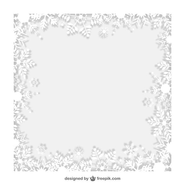 cadre d hiver avec des flocons de neige blancs t 233 l 233 charger des vecteurs gratuitement