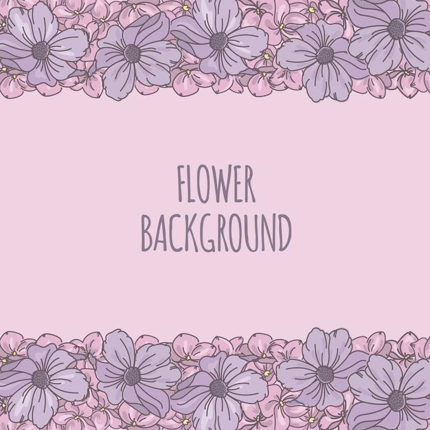 Cadre Décoratif De Fond De Fleur Vecteur Premium