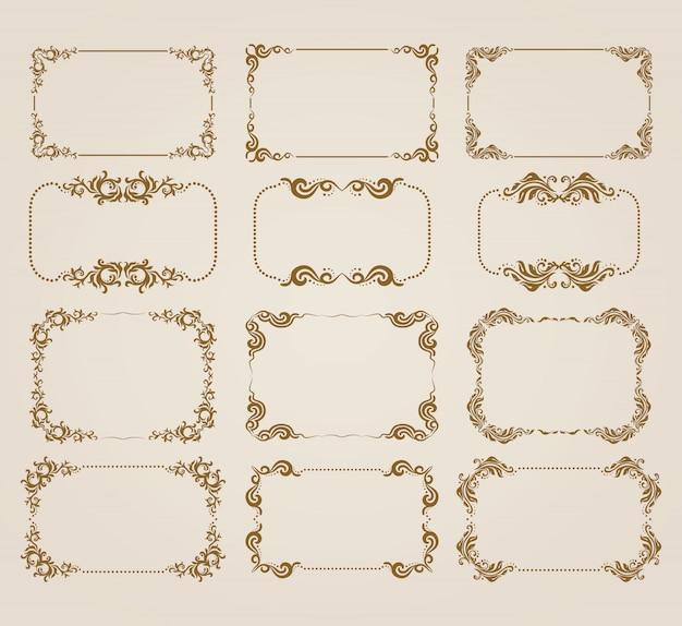 Cadre décoratif Vecteur Premium