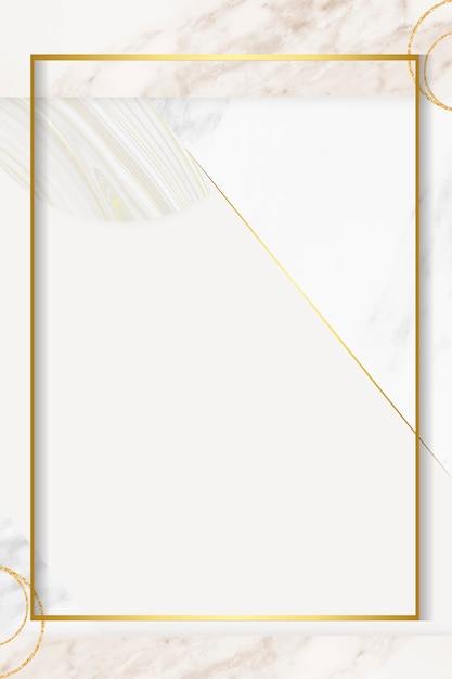 Cadre doré moderne Vecteur gratuit