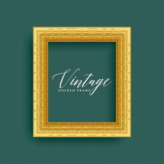 Cadre doré royal vintage classique Vecteur gratuit