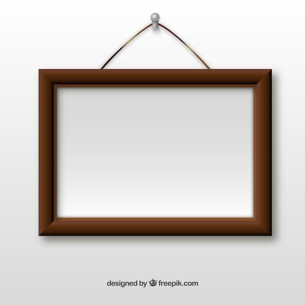 cadre en bois accroch sur le mur t l charger des vecteurs gratuitement. Black Bedroom Furniture Sets. Home Design Ideas