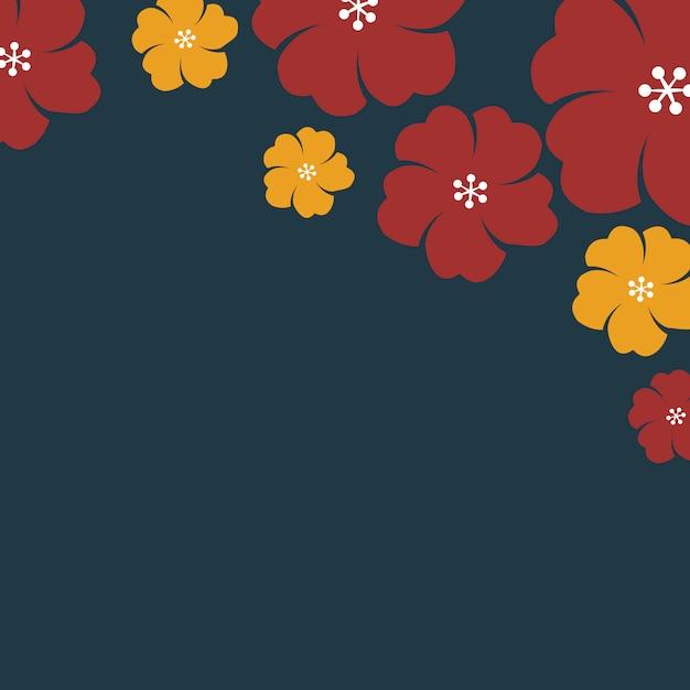 Cadre De Fleurs Japonaises Vecteur gratuit