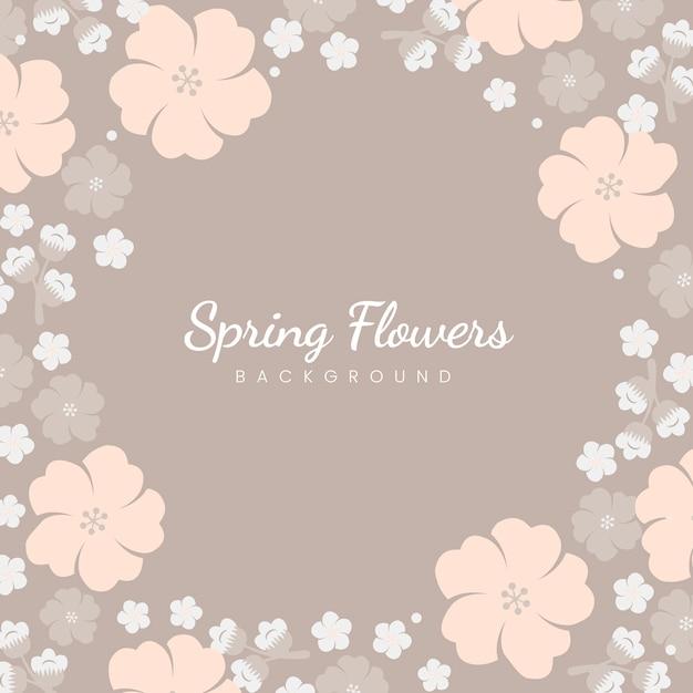 Cadre fleurs pastel japonais Vecteur gratuit