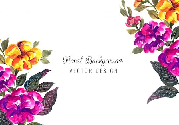 Cadre Floral Décoratif D'anniversaire De Mariage Pour Carte De Voeux Vecteur gratuit