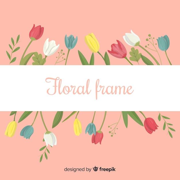 Cadre floral Vecteur gratuit