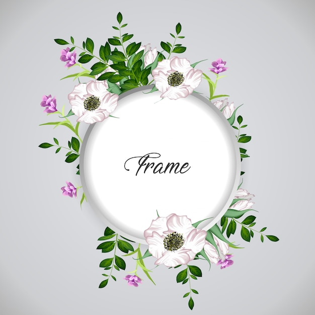 Cadre floral Vecteur Premium
