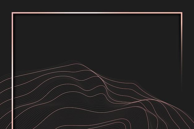Cadre de fond de ligne de contour Vecteur gratuit