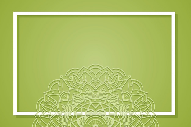 Cadre De Fond Avec Motif Mandala Vecteur gratuit