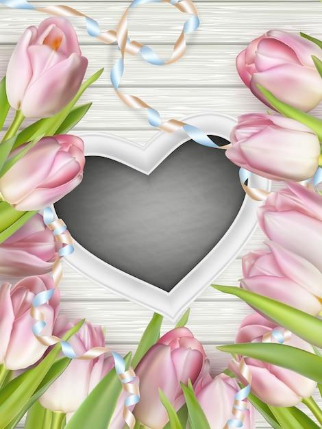 Cadre En Forme De Coeur. Vecteur Premium