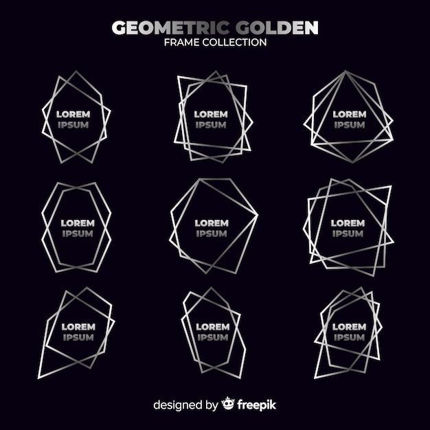 Cadre géométrique en argent Vecteur gratuit