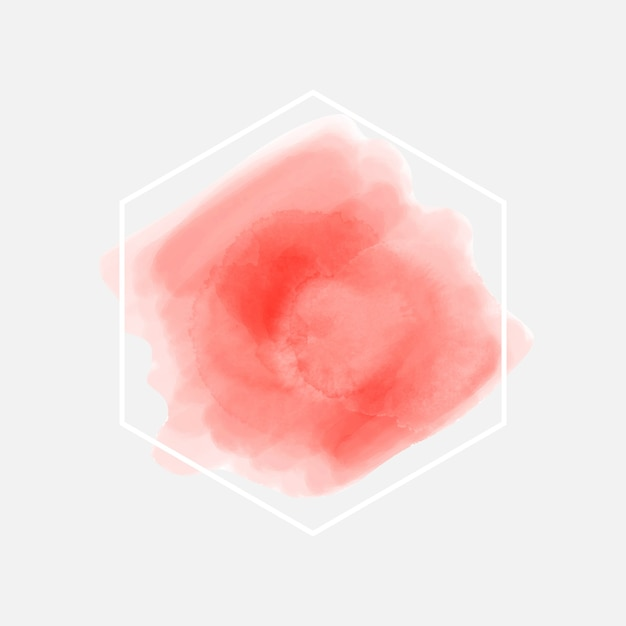 Cadre géométrique blanc tache aquarelle Vecteur gratuit
