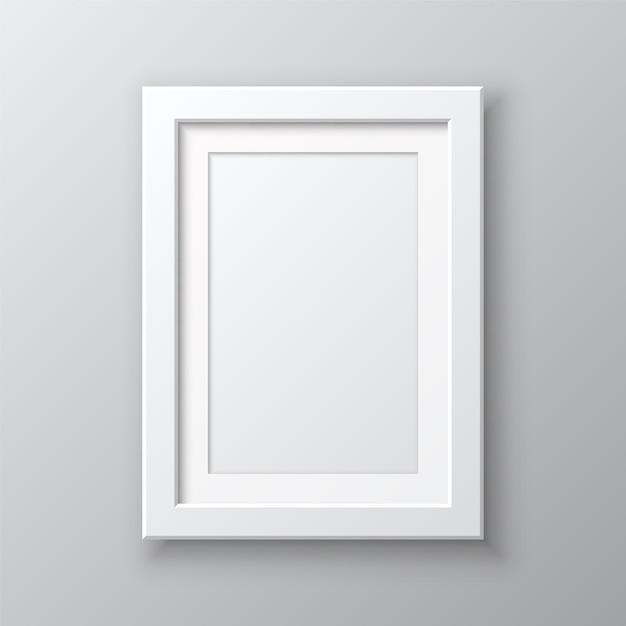 Cadre d'image vide vertical isolé Vecteur Premium