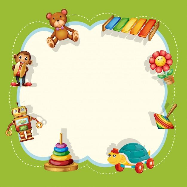 Un cadre de jouets pour enfants Vecteur gratuit