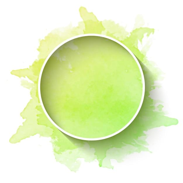 Cadre minimaliste avec fond aquarelle Vecteur gratuit