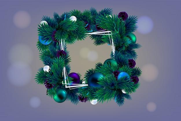 Cadre De Noël Pour Texte Sur Violet Vecteur Premium
