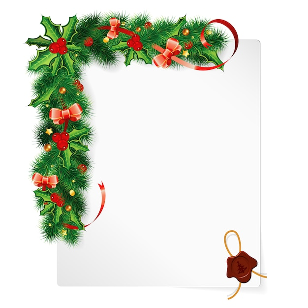 Cadre De Noël Vecteur Premium