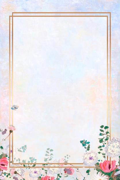 Cadre sur une peinture au pastel Vecteur gratuit