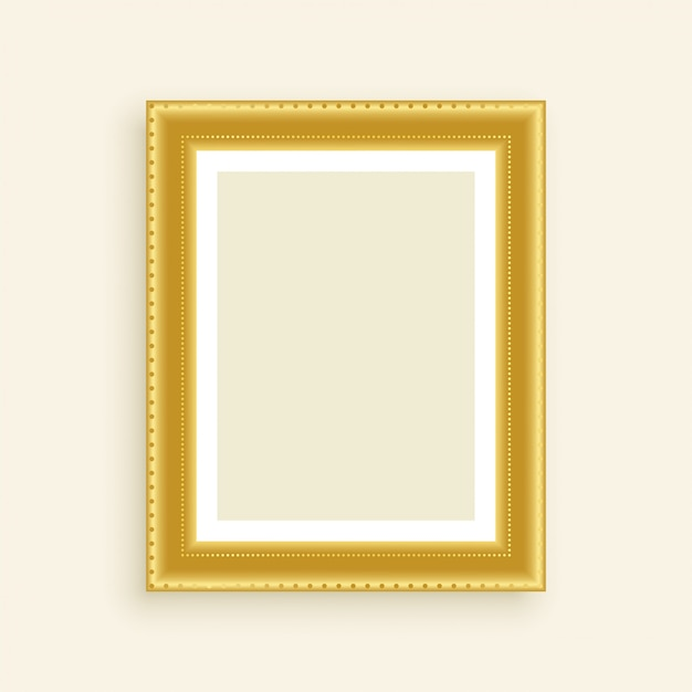 Cadre photo doré de luxe vintage Vecteur gratuit