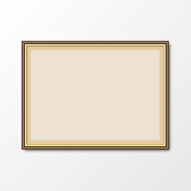 Cadre Photo élégant Avec Ombre. Illustration Vectorielle Vecteur Premium