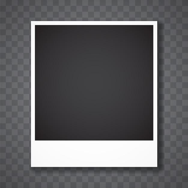 Cadre photo avec fond transparent Vecteur Premium