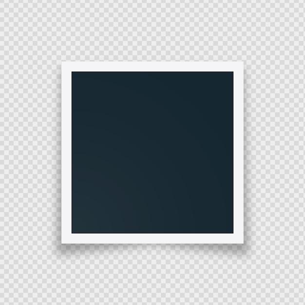 Cadre Photo Instantané Rétro Blanc Vecteur gratuit