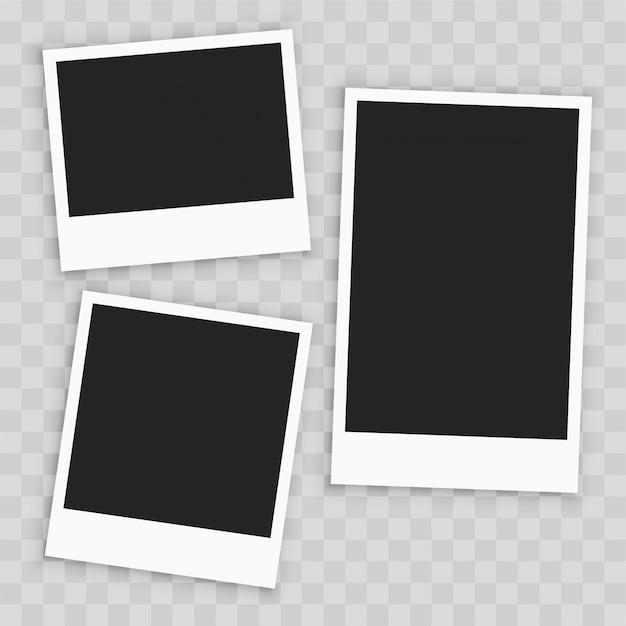 Cadre de photo de papier vide réaliste Vecteur gratuit