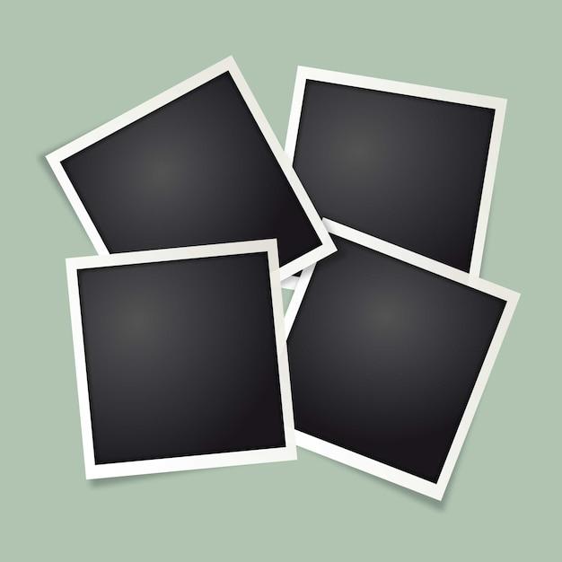 Cadre photo polaroid Vecteur gratuit