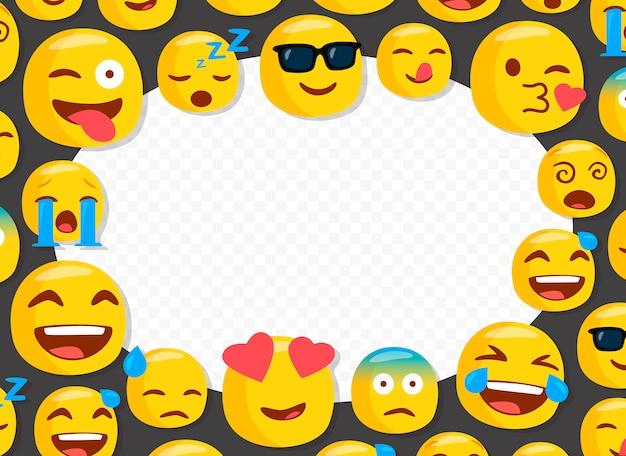 Cadre photo pour enfants avec des emojis drôles Vecteur Premium