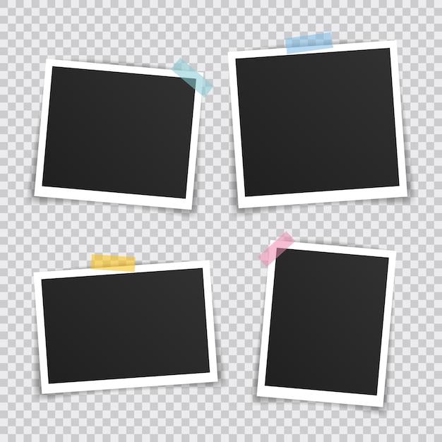 Cadre Photo Vectoriel Vecteur Premium