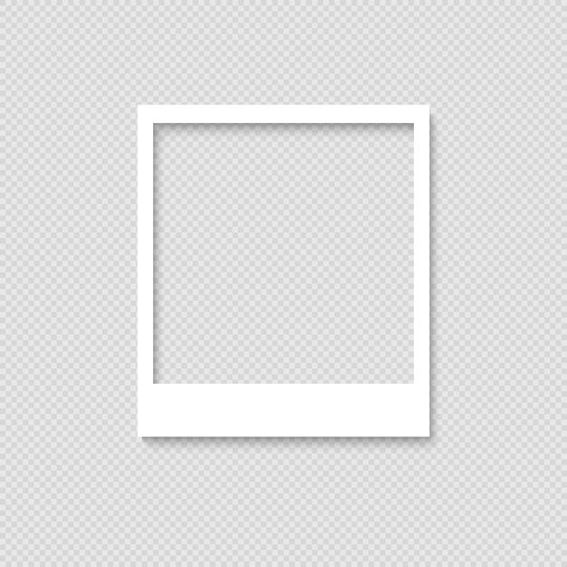 Cadre photo vide. modèle pour la conception Vecteur Premium