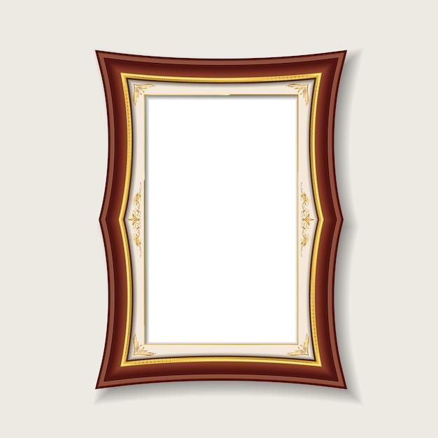 Cadre Photo Vintage Bois Rouge Vecteur Premium