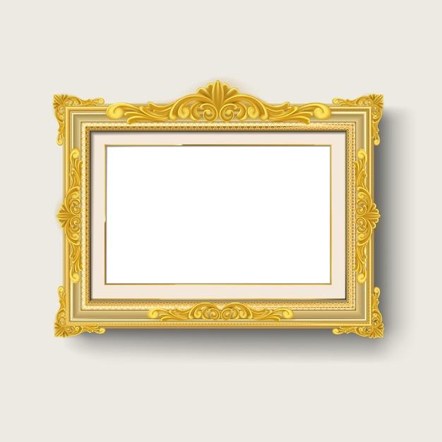 Cadre Photo Vintage Or Vecteur Premium