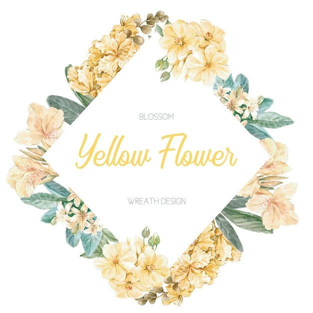 Cadre de printemps floral Vecteur gratuit