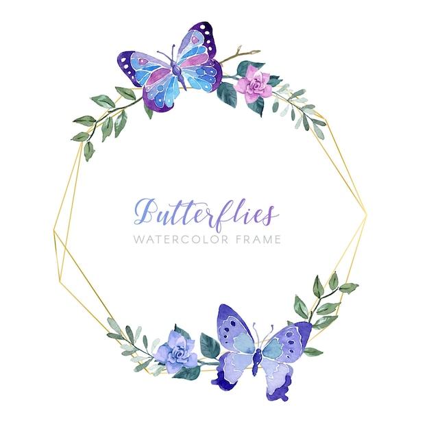 Cadre de souhaits floral vintage Vecteur gratuit