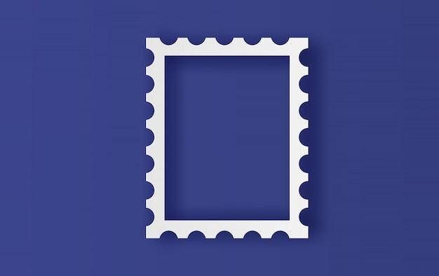 Cadre de timbres vierges Vecteur Premium