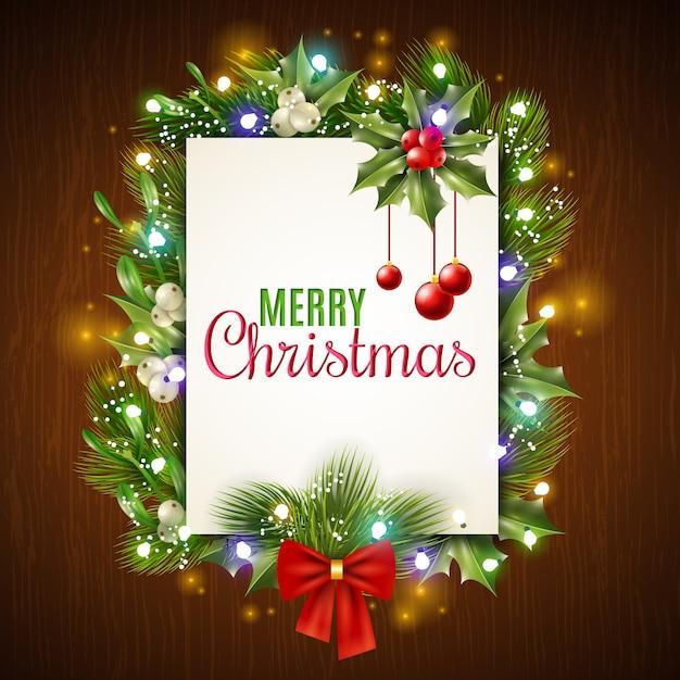 Cadre De Vacances De Noël Vecteur gratuit