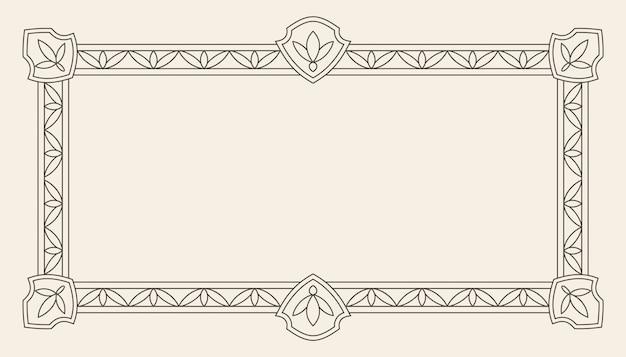 Cadre de vecteur de carte de voeux d'ornement vintage Vecteur Premium