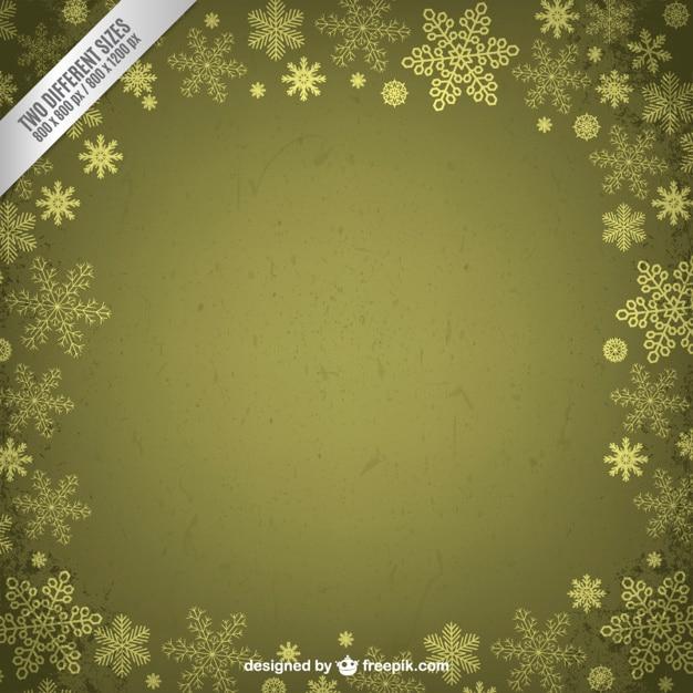 cadre vert de flocons de neige t 233 l 233 charger des vecteurs gratuitement