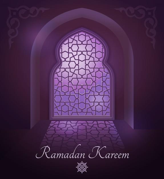 Cadres arabes sur la porte islamique traditionnelle et fenêtre avec ornement. Vecteur Premium