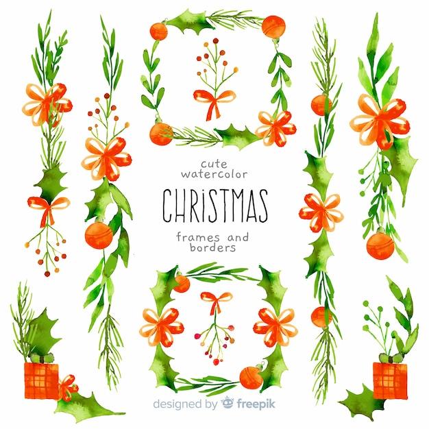 Cadres Et Bordures De Noël Décoratifs Vecteur gratuit